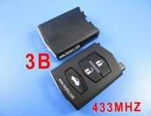 Free Shipping by HKP MOQ:1PC mazda remote 3 button MHZ 433(China (Mainland))