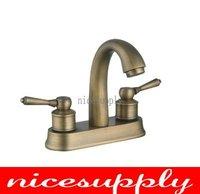 nice antique brass faucet bath kitchen basin sink Mixer tap b668