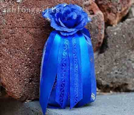 Wholesale 20pcs Blue Elegant Sachet Gift Bag Scented Potpourri Car Decor Home Decoration Wedding Favor Free Shipping(China (Mainland))