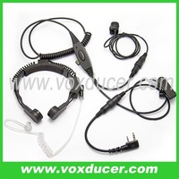 Two way radio accessories military throat microphone for WOUXUN handheld radio KG-UVD1 KG-UVD1P KG669
