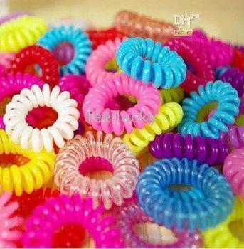 Wholesale - 1000pcs Telephone Wire Hair Wrap Headband Hair Ring Coil of Hair Fashion Hair Truss Band