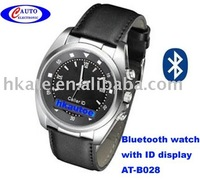 New Bluetooth handsfree  watch with call id display OLED AT-B028 free shipping ems or airmail