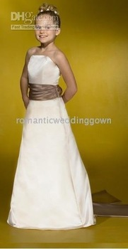party focus/wedding gown/white/ivory/bone/pink/red/yellow/385 New style Flower Girl Dresses &dancing