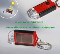 solar christmas light Mini Solar Keychain Flashlight Solar Torch 2277 Great gift LOGO service promotion(China (Mainland))