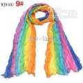 good match Rainbow Gradual change Fold Scarves fashion scarf 93