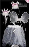 PRINCESS Wings Magic Wand Headband Set Angel Mascot Costume 2 color HALLOWEEN BUTTERFLY FAIRY