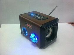 Wooden Mini Speaker MD-96 with Inserting Card,colorful LED light(China (Mainland))