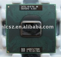 Intel CPU T9800 SLGES 2.933MHz 6M 1066MHz laptop retail/wholesales with free shipping cost