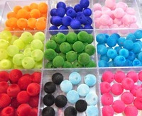 Beads.Free shipping. Colorful  round  beads.Textile outsourcing beads.12Piece/1 lot.