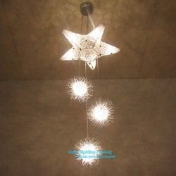 Free Shipping Children style pendant lamp,Aluminium Star Spot pendant light(China (Mainland))