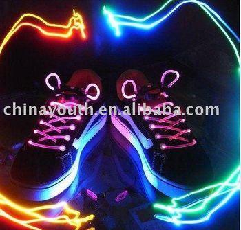 LED Flashing shoelace light up shoe laces ,halloween gifts, novelty gift, novelty prodcuts