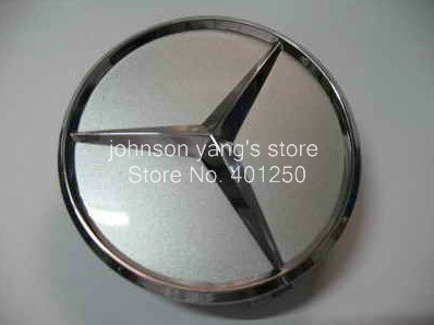 Free shipping High Quality Car Badge, BENZ Wheel Cover,Chrome Emblem #CDA-BCR220 diameter 75mm 100pcs/lot(China (Mainland))