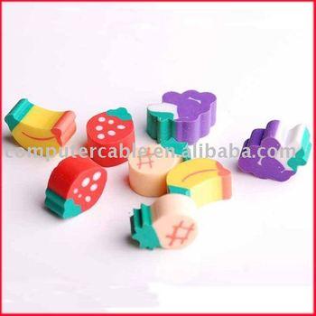 Free shipping adorable sweet MINI fruit small Novelty Cartoon Rubber Eraser