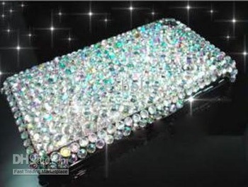 For Iphone 3g case White 100% Brand New Luxurious Bling Diamond Rhinestone Back Cover Case for iphone 3G 3GS