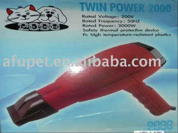 Free Shipping! Christmas Gift! electric pet dryer, twin power , red, cute appearanc