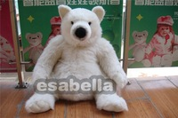 Christmas white polar bear  plush and stuffed toy free shipping