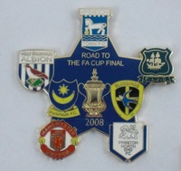 Custom metal badge,West Ham Badges,football club, MANCHESTER badge, factory price