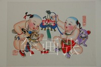 100% original chinese folk painting free shipping  christmas decoration