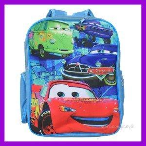 16'' BLUE   Carton CARS Backpack School  Bag
