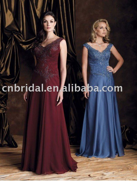 MM0457 free shipping chiffon beading applique mother of the bride dress(China (Mainland))