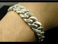 925 sterling silver bracelet ,fashion jewelry,hot sale silver bracelet,cool men  bracelet,best gift for men
