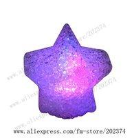 "2010 New Products 60pcs/lot  Free Shipping  3.5"" EVA Colorful Flash Star-Shape Nightlight  XMST 002"