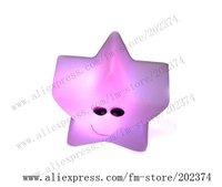 "2010 New Products 60pcs/lot  Free Shipping  3"" EVA Colorful Flash Star-Shape Nightlight  XMST 004"