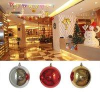 Free Shipping  Wholesale 32pcs/lot  20CM Plasitc Plating Christmas Ball  XMB020