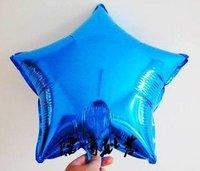 "18"" Blue Star Foil Mylar Balloons 40 pcs/lot + Gift & Free Shipping"