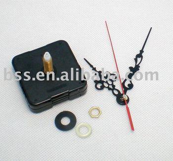 Free shipping 100pcs/lot Quartz Clock Movement Kit Spindle Mechanism shaft 23mm with hands