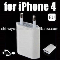 200pcs/lot usb 2.0 mobile phone charger  mini adapter , EU plug Wall Charger For iphone 4G 3GS 3G,EU plug/ USA plug