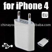 200pcs/lot usb 2.0 mobile phone charger  mini adapter , EU plug Wall Charger For iphone 4G 3GS 3G,EU plug/ USA plug