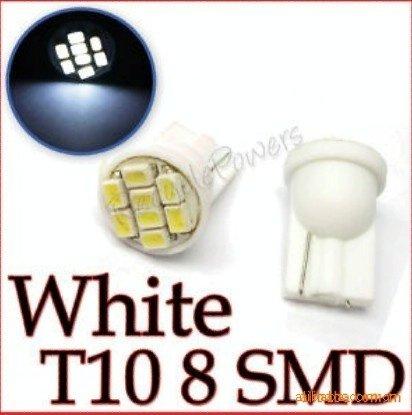 Wholesale Wholesale 200Pcs/lot T10 194 168 car led 1206 3020 8SMD super bright White
