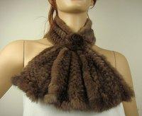 Free shipping/wholesale/Retail Fashion style lady 100%fur scarf,85cm*10cm short scarf
