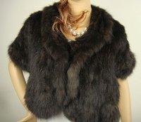 Free shipping/wholesale/Retail Fashion style 100%sable Fur shawl