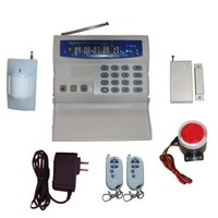 Free shipping LCD wireless GSM alarm system for home or business use/ wireless alarm control panel
