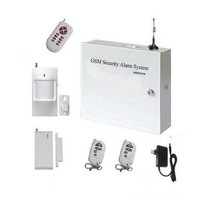 Free shipping Metal type GSM alarm system for home or business use/ high quanlity burglar alarm control panel