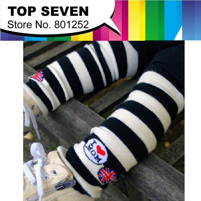 2013 New Arrive COMBI baby legs wramers,baby socks,High quality Baby Wear Children Stripe Knitted Cotton Clothing Free Shipping(China (Mainland))