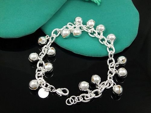 Fashion Jewelry 925 sterling silver small bead link bracelet Best, price ever, Free & fast shipping fh74(China (Mainland))