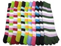 36pairs/lot LADIES GIRLS WOMAN STRIPES TOE SOCKS Stockings wholesale price Free Shipping