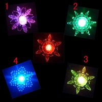 50pcs/lot freeshipping Battery Operated christmas light, Christmas Gift 10cm snowflake , Christmas decoration Slow RGB