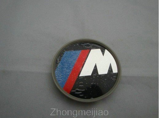 Wholesale 100pcs/Lot ///M M Wheel Central Cover Car Badge Emblem Diameter 68Mm Factory Supply free shipping(China (Mainland))