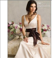 Wholesale - Evening dress custom-made satin and lace pink