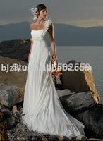 One-shoulder of graceful fashion beach wedding gown new