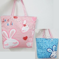 Free Shipping Lovely Rabbits Double Size Cartoon Anime Shopping Shouder bag Carry Tote Bag Handbags