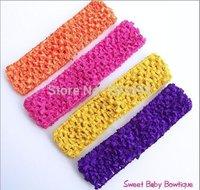 "Wholesale - - baby girls 1.5"" Crochet Headband soft Multi-Colored 120pcs/lot"