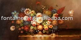 handpainted Classical Still Life flowers on table painting,freeshipping,50x100cm(Hong Kong)