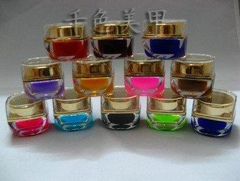 freeshipping EZFLOW Pure Color UV Nail Gel 12colors UV GEL PRO Nail Art Builder Gel Wholesale 155