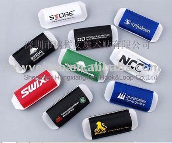 Free Shipping 1 color Custom Logo Velcro ski strap