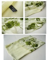 Free Shipping/Hot Sale 100% Silk Scarf, High Fashion Silk Scarf,Long Scarf, Ladies' scarf
